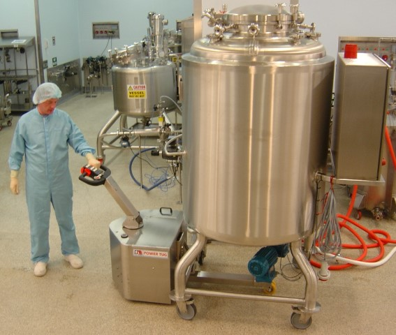 316 DP Stainless Steel PowerTug for moving mixing vessel in Pharmaceutical laboratory