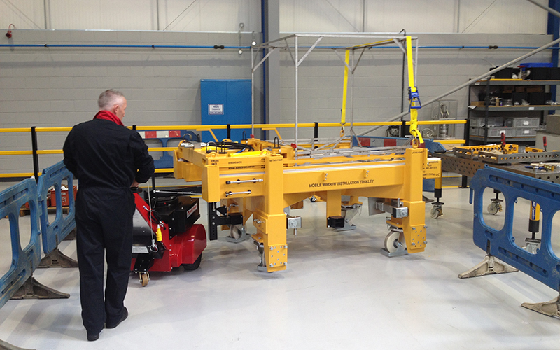 Super Power Pusher, with Steering Arm, moving specialist 7,000Kg trolley in Nuclear industry
