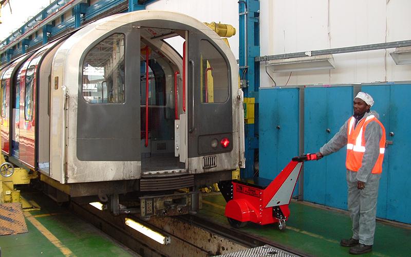 Super Power Pusher pushing 180,000Kg rolling stock at London Underground Hainault depot